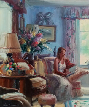 """A quiet moment"" by Norman Teeling 19"" x 23"" oil on board"