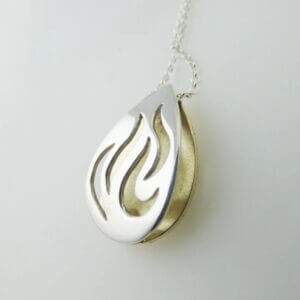"""Bealtaine"" (Summer) Sterling silver pendant by Banshee Silver"