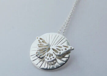 """""""Butterfly"""" Sterling Silver pendant by Banshee Silver"""