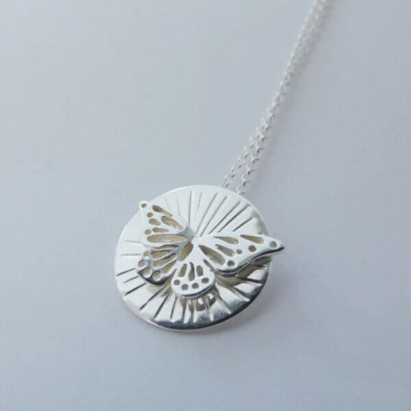 """Butterfly"" Sterling Silver pendant by Banshee Silver"