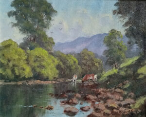 """Cattle on the Erriff River."" by Michael Mc Carthy"