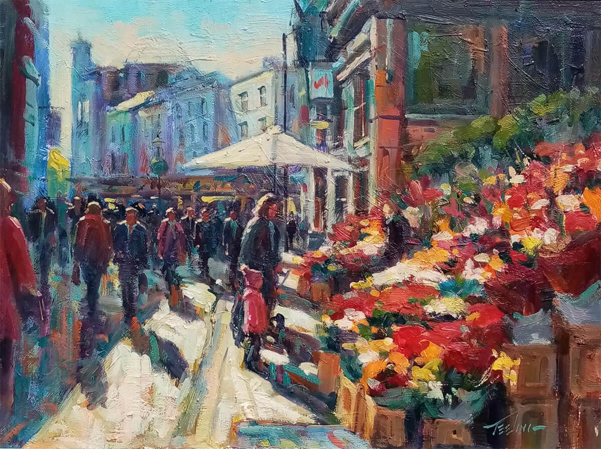 """""""Flower sellers on Grafton Street"""""""