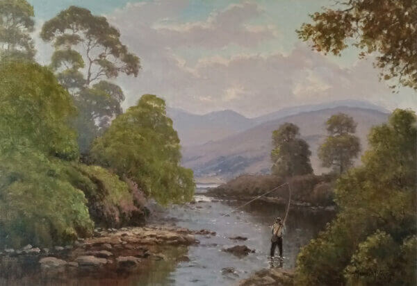 """Fly fishing on the Erriff"" By Michael Mc Carthy"