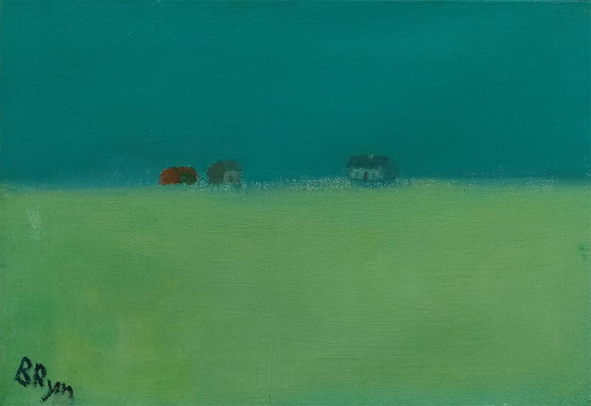 """sunrise"" by Bridget Ryan. Oil on canvas 12"" x8"""