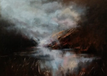 """The storm will pass, Doolough Lake, Connemara"" By Robert Devereux, 30"" x 24"" oil on board"