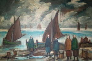 """""""Waiting for the catch"""" By Markey Robinson, 29"""" x 30"""""""