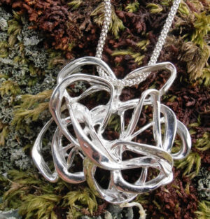 """Wind"" Sterling silver pendant by Banshee Silver"