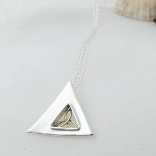 """The Trinity Knot"" Sterling silver Pendant by Banshee Silver"
